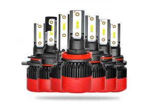 China Black red design CSP 60W all in one H7 H1 H11 9005 9006 9012 LED headlight on sale
