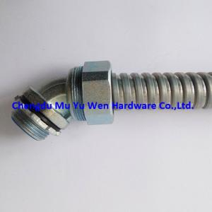 China Good quality zinc die casting 45 degree elbow liquid tight flexible conduit fittings with thread G3/8 on sale