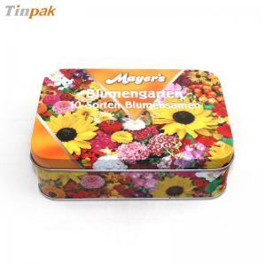 China printed rectangular candy tin box on sale