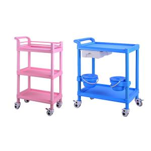 China ABS Plastic Protable Multi-function Medical Instrument Trolley For Sale on sale