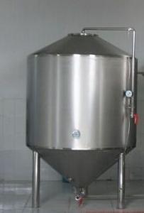 China Small Volume Food Grade Buckets / Barrels Taper , Beer Fermentation Tanks With Steam Jacket on sale