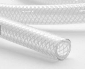 China 100m/Roll 4.5mm Thick Pvc Fiber Reinforced Hose 1/4 Pvc Braided Hose Pipe on sale