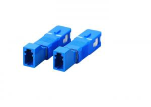 China Singlemode Simplex / Duplex LC Female to SC Male Hybrid Fiber Optic Adapter on sale
