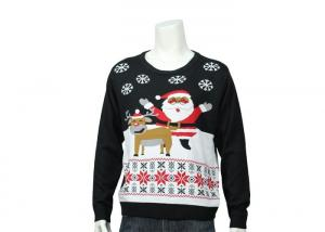 China Home Christmas Features Patterns Knitted Funny Xmas Sweater In Customized Size on sale
