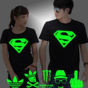 China hot cake flashing superman t-shirt/cotton t-shirt/ custom t-shirt with customized design on sale