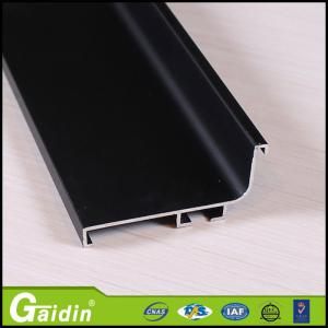 China Alloy 6063 Champagne Brushed Aluminium Extrusion Profile For Cabinet on sale