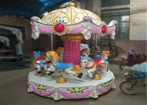 China Low Height Carousel Horse Ride With Vehicle Mounted MP3 For Young Children on sale