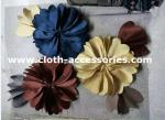 Big Blue And Yellow Silk Fabric Flower Corsage Polyester Satin SGS / BV / ITS