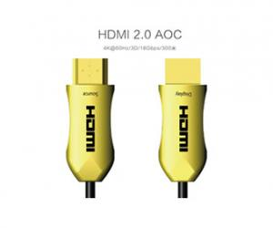 China 2.0 AOC 18G HDMI Active Optical Cable Audio PVC Jacketed Plug And Play on sale