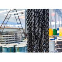 EN818-2 G80 Lifting Anchor Chain , Alloy Steel Black Oxidation Lifting Chain