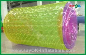 China PVC Funny Inflatable Water Roller Customized For Advertisement on sale