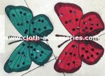 Bordado de Appliques de la ropa de la mariposa del satén con el diamante artificial cosido