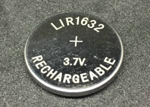 China Professional Li Ion Button Battery LIR1632 25mAh Li Ion Coin Cell Rechargeable on sale