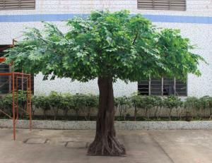 China decorative cheap wholesale indoor artificial banyan tree plant bonsai artificial ficus benjamina tree in Guangzhou on sale