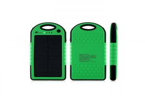 China Green Waterproof Portable Emergency Mobile Phone Charger 5000mAh For Travel on sale