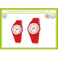Sexy Red Unisex Wrist Watch Custom Silicone Strap Waterproof For Sport