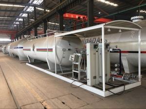 China 10 Tons Cylinder LPG Bottling Plant , 20,000L Gas Cylinder Filling Station on sale