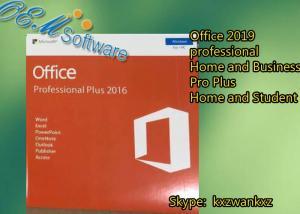 China Original Office 2016 PKC , Office 2016 Pro Plus Retail Key Dvd Box on sale