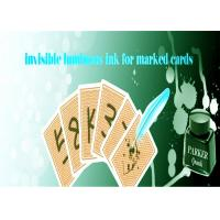 China Safety Poker Magic Luminous Playing Cards Invisible Ink With Pen For Marked Cards on sale