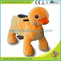 Electric Motorized Toy Bike Stuffed Plush Riding Toys Animal Rides