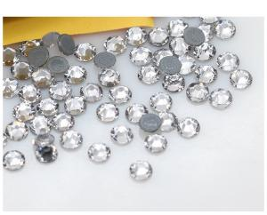 China Rhinestones Supplier Crystal and AB Bling 8+8 16 Sided Strass Glittering Flat Back Bags Shoes Fashion Trim Decoration on sale