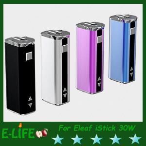 China Eleaf iStick 30W Mod Battery With OLED Screen Ismoka iStick 2200mah E Cigarette Battery on sale
