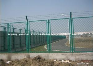 China Le PVC a enduit la sécurité en acier de grillage clôturant le stade concis de structure de grille augmenté on sale