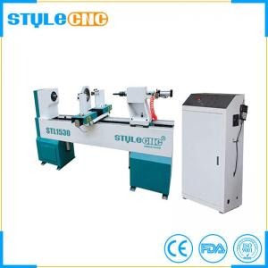 China CNC wood lathe machine for bed legs, chair legs, stair handrail on sale