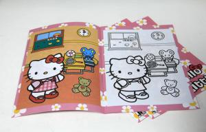 China Saddle Stitching Children Cartoon Picture Book Printing With Hot Foil Stamping on sale