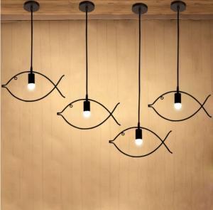 China Industrial multi pendant lighting For Living room Bedroom Fish Shape (WH-VP-43) on sale