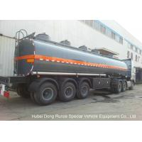 30-45CBM Chemical Tanker Truck 3 Axles For Hydrochloric Acid , Ferric Chloride Delivery