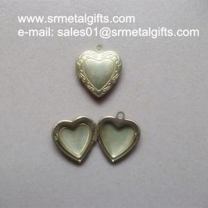 China Copper Album Locket Jewelry Gifts, Brass Photo Box Locket pendants necklace on sale