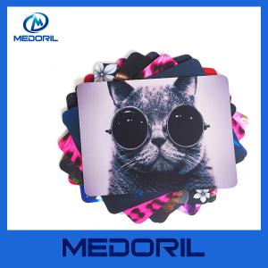 China Manufacturer hot sale blank sublimation mouse pad cloth rubber heating mouse pad on sale