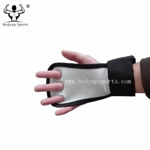 China Anti Slip Cross Training Gloves , Half Finger Weight Lifting Gloves With Wrist Straps on sale