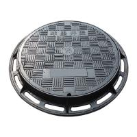 China B7080R Manufacture ductile cast iron manhole cover and frame double layers round sewer cover diameter 700mmx800mm frame on sale