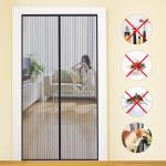Fashionable Design Magic Curtain Door Mesh , Safety Magic Mesh Curtain