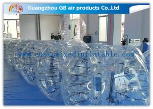 China Clear Giant Inflatable Hamster Ball Human Bubble Ball With Custom Logo Printing on sale