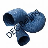 Industrial welding fume exhaust duct 160mm PVC coated glass fabric ducting for gas