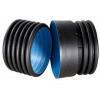 China 1.6Mpa Black Double Wall PE Pipe Fittings HDPE Light Weight on sale
