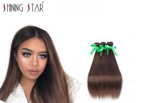 China Ombre Peruvian Straight Hair 3 Bundle Natural Color For America Women on sale