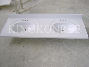 China Cheapest Bathroom US Standard Cultured Marble Basin on sale