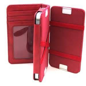 China Durable Red PU Leather Iphone Protective Case with Card Holder , iPhone 4 cover on sale