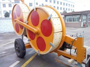 China Wire Ropes Hydraulic Power Line Stringing EquipmentWith MC Nylon Bull Wheel on sale