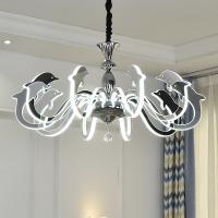 Fancy big acrylic bead chrome Led chandelier For Kids Children Room Lighting (WH-LC-04)