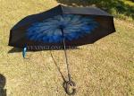 "23"" * 8K Windproof Reverse Umbrella , Reverse Close Umbrella That Closes Inside Out"