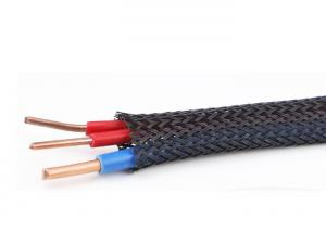 China Mixed Weaving Various Patterns Flame Retardant Wire Loom For Wire Management on sale