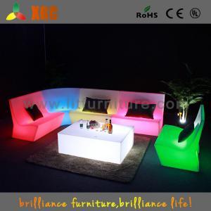 China 16 Colors Change Plastic LED Sofas , PE Night Club LED Furniture on sale