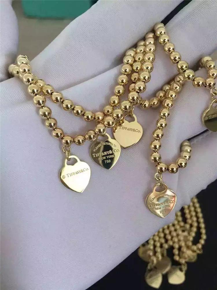 Tiffany 18k Gold Bead Bracelet Bracelet Most Popular Hot
