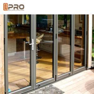 China Interior Position and Finished Surface Finishing Double Glazing Aluminium Bifold Doors on sale