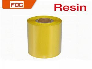 China Yellow Resin Flat Thermal Transfer Ribbon ,  Printability Zebra Ink Ribbon on sale